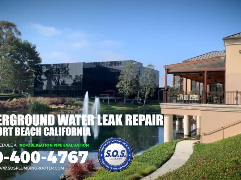 UNDERGROUND WATER LEAK REPAIR NEWPORT BEACH CA